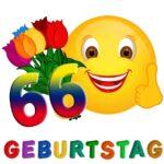 Witzige Glückwünsche zum 66. Geburtstag